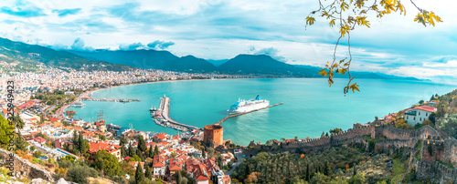 Landscape of Alanya Castle in Antalya Wallpaper Mural