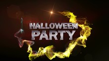 Halloween Party Text Animation...