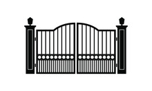 Gate Or Fence Icon Design Isol...