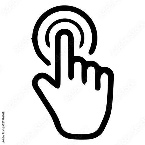 Fototapeta Hand clicking icon. Finger cursor. Cursor icons click obraz na płótnie