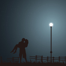 Lovers Dating In The Starry Ni...
