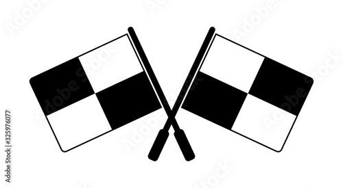 Photo chorągiewki sędziowskie ikona