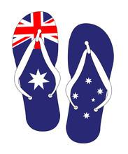 Australian Flag Flip Flop Shoes