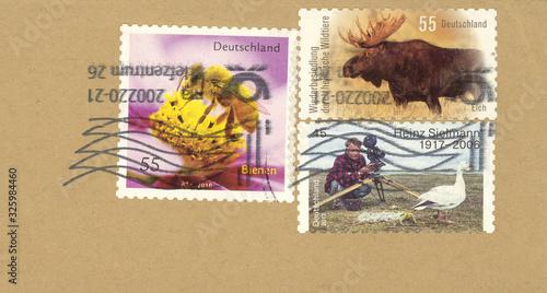 Briefmarken stmaps Deutschland Germany vintage retro frankiert used gestempelt T фототапет