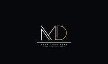 MD ,DM ,M ,D Letter Logo Desig...
