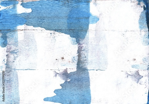 Fototapeta Light blue stains. Abstract watercolor background. Painting texture obraz