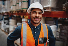 Smiling Warehouse Manager In S...