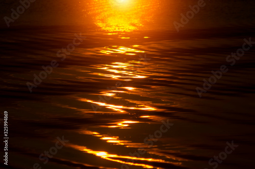 Fototapety, obrazy: Defocus Water surface images reflect the sunlight at the lake in golden time