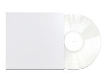 White Colored Vinyl Disc Mock ...