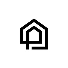 Initial P Letter Logo With Bui...