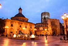 Square Of The Virgin Of Valencia