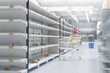 canvas print picture - Empty shelves in supermarket store due to coronavirus