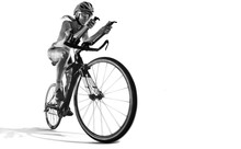 Sport. Athlete Cyclists In Sil...