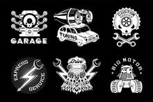 Auto Service Vector Emblem. Re...