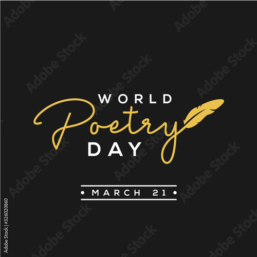 World Poetry Day Vector Design For Celebrate Moment Canvas-taulu