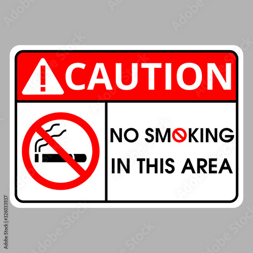No smoking label on soft gray background Wallpaper Mural