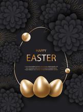 Easter Dark Background. Minima...