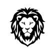 lion head icon logo isolated on white background