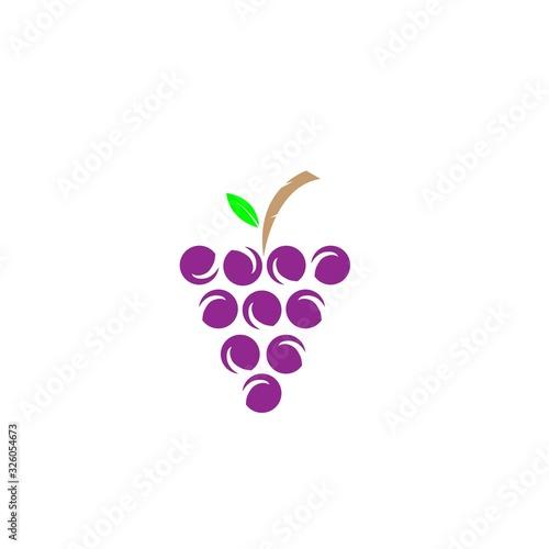 grape logo Fototapete