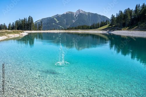 Obraz Mountain lake landscape view - fototapety do salonu