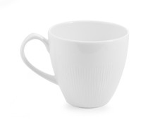 White Ceramic Cup On White Bac...