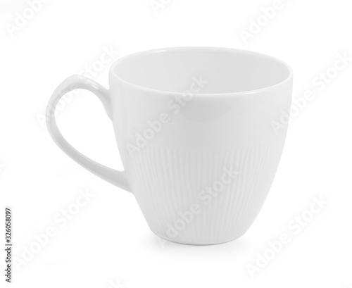 Carta da parati white ceramic cup on white background