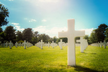 Closeup Of A White Cross Milit...