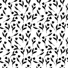 Seamless Pattern Of Spring Flo...