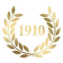 Year 1910 Gold Laurel Wreath V...