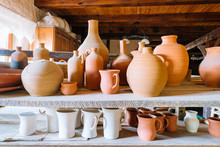 Handmade Pottery In A Old Pott...