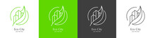 Set Of Eco City Logos. Green City Icons. The Green And Clean Movement