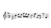 Black Musical Notes Icon Desig...
