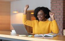 Black Girl Celebrating Success...