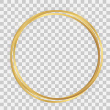 Triple Gold Shiny Circle Frame
