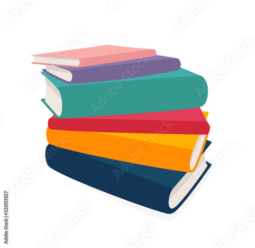 Fotografía Vector stack of books isolated on white background