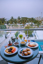 Breakfast On Balcony With A Lo...