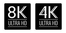 8k And 4k Ultra Hd Black