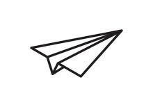 Paper Plane Vector Thin Line I...