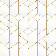 Gold Frame Mosaic Seamless Pattern