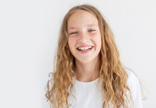 Portrait Smiling Young Girl Teen