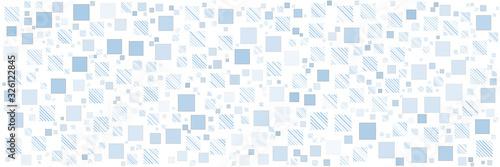 Fototapeta kratka  blue-square-pattern-background-for-wide-banner