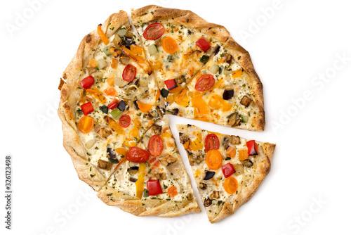 Obraz na plátně Flammkuchen mit Gemüse