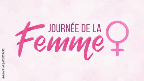 Fototapeta Journée de la Femme - 8 Mars obraz