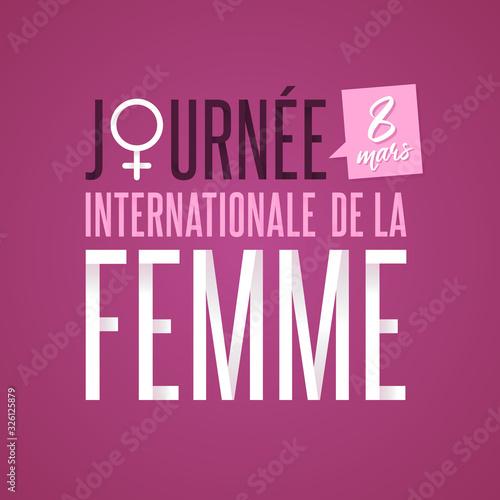 Fototapeta Journée Internationale de la Femme - 8 Mars obraz