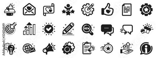 Business strategy, Megaphone and Representative Canvas Print