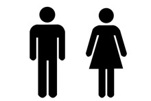 Icon Of Woman And Man On A White Background