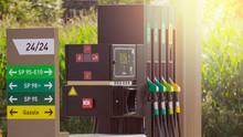 Fuel Pumps At A Gas Station, I...