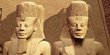 canvas print picture The Faces of Abu Simbel - Ramses the Great built the temple complex of Abu Simbel to honor him and his wife queen Nefertari.