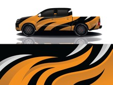 Truck Car Wrapping Decal Design