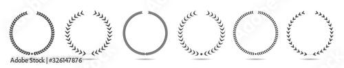 Foto Laurel wreath icon set